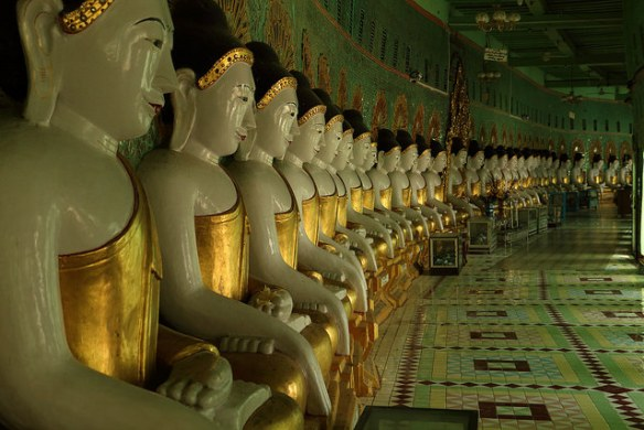 45 Buddhas at Sagaing, Myanmar. Photograph by Chris the Borg via Flickr