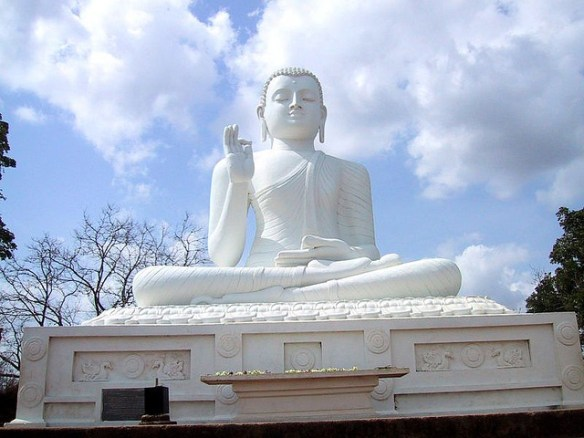 The Statue of the Buddha at Mihintale, Sri Lanka. Photograph by Prince Roy via Flickr