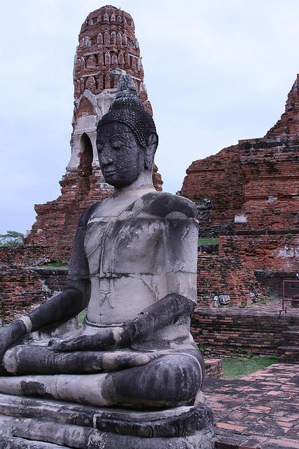 A Statue of the Buddha at Wat Mahatat, Thailand. Photograph by Joe Stump via Flickr