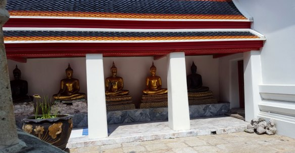 Buddha Statues at Wat Phra, Thailand.