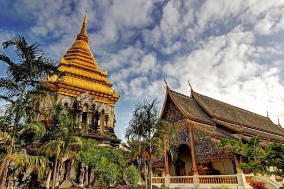Chedi of Wat Chiang Man, Chiang Mai, Thailand.