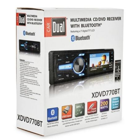 AUTOESTEREO DUAL  XDVD770BT