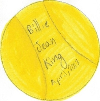 April 2017 Button single - Billie Jean King