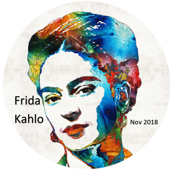 Frida Kahlo button single
