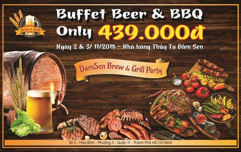lễ hội buffet beer and BBQ nhà hàng Thủy Tạ Đầm Sen 2018