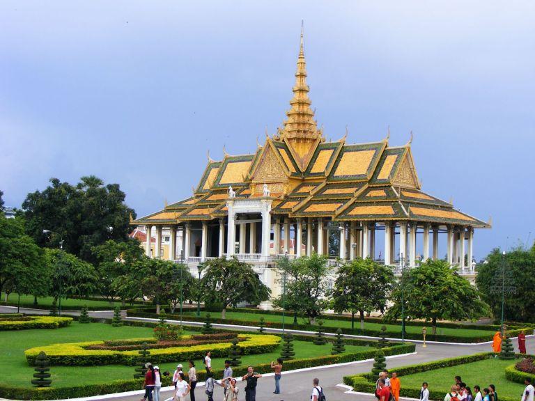 du lịch campuchia - Cung điện hoàng gia Campuchia