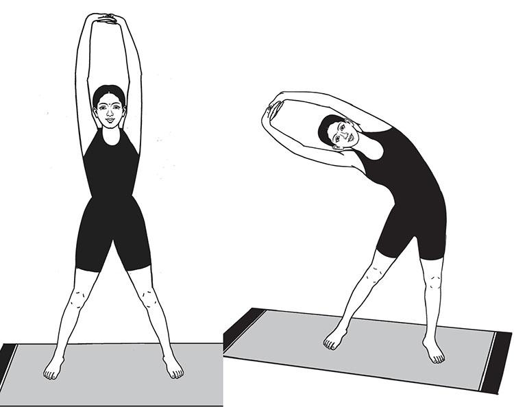 Йога упражнения 2