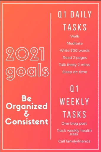 Goals and tasks - planning daily and weekly tasks