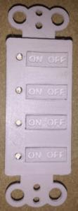 4 button keypad
