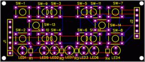 Keypad board PCB design