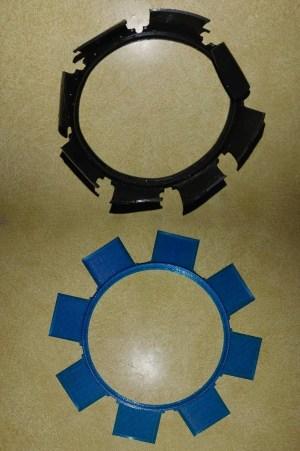 Worn filter cover valves