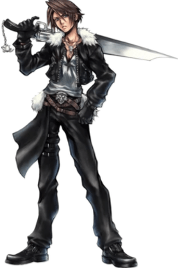 Concept art depicting Squall Leonhart from Final Fantasy 8.