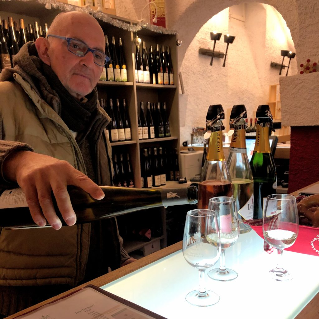 Tasting at the Dopff au Moulin cellar door in Riquewihr