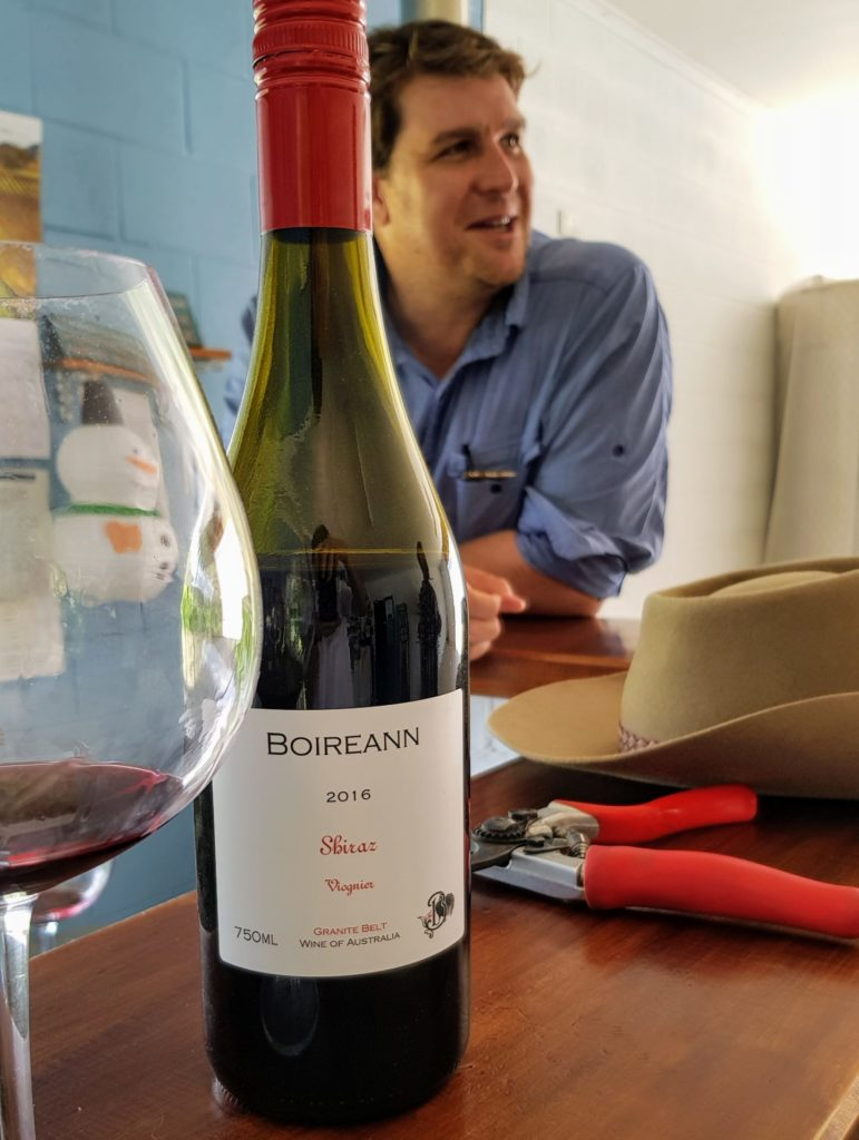 Brad Rowe and the Boireann Shiraz Viognier 2016