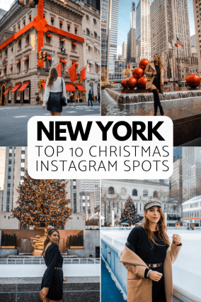 The 10 Best NYC Christmas Instagram Spots | Christmas in New York | Dana Berez NYC Blogger | Best photo spots in NYC