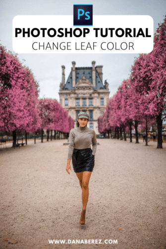 Easy Photoshop Tutorial. Change Leaf Color in 5 simple steps.