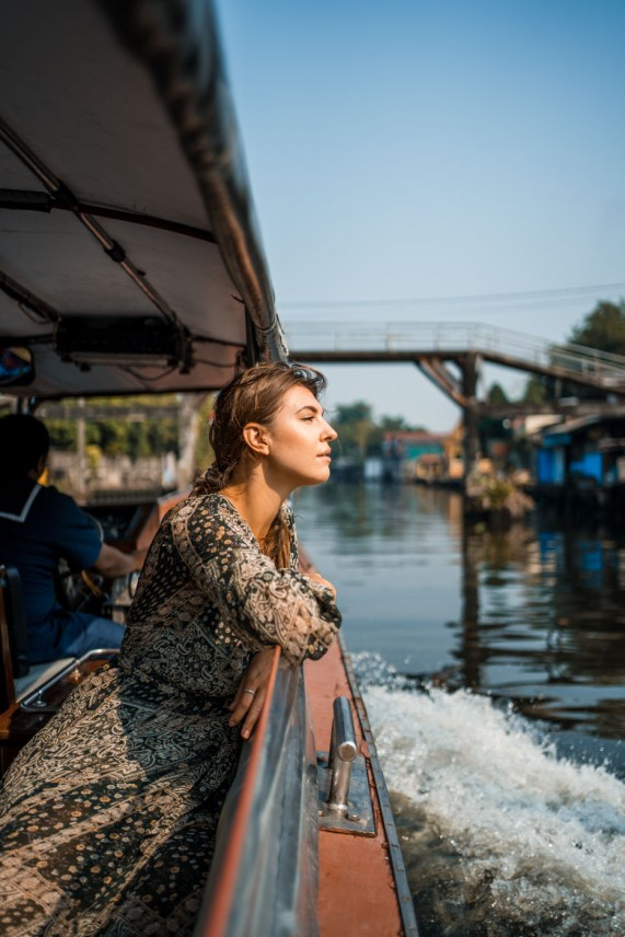 Water taxi in Bangkok Thailand
