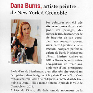 Dana Burns, artiste-peintre : de New York à Grenoble
