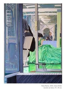 Green Bride, 2020, Acrylic on linen, 55 x 38 cm