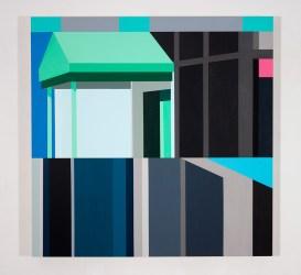 Facade 10, 2017, acrylic on panel, 24″x 24″x 2″