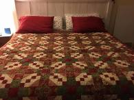 """""""Country Inn"""" from The Quilter Magazine, for my sister Resa, Christmas 2016"""