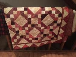 Haley's red scrappy quilt