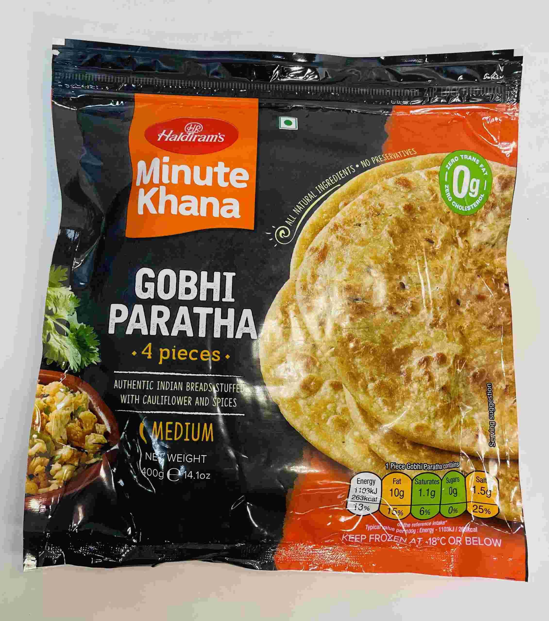 Haldiram's Gobhi Paratha  4 Pieces