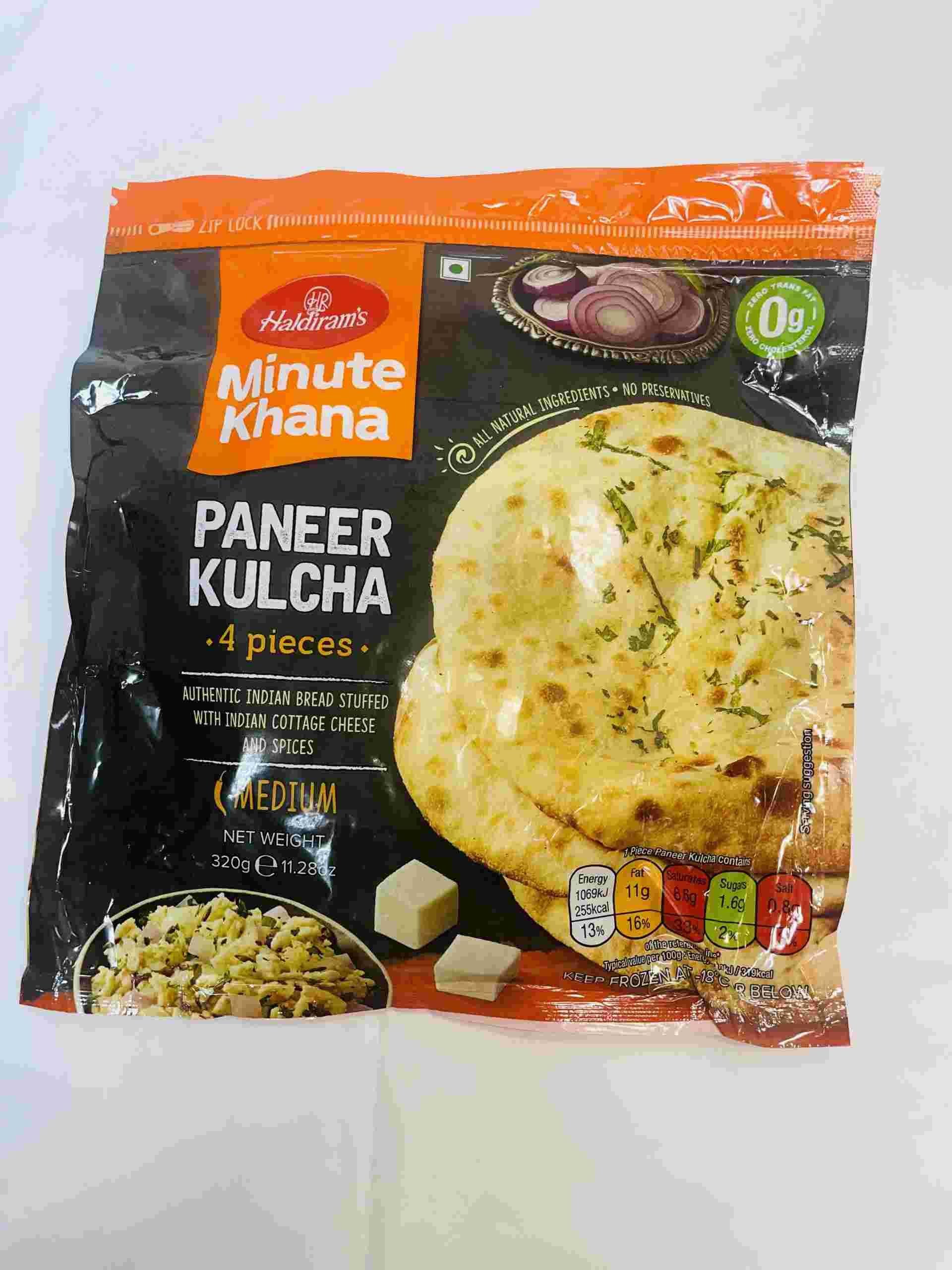 Haldiram's Paneer Kulcha 4 Pieces
