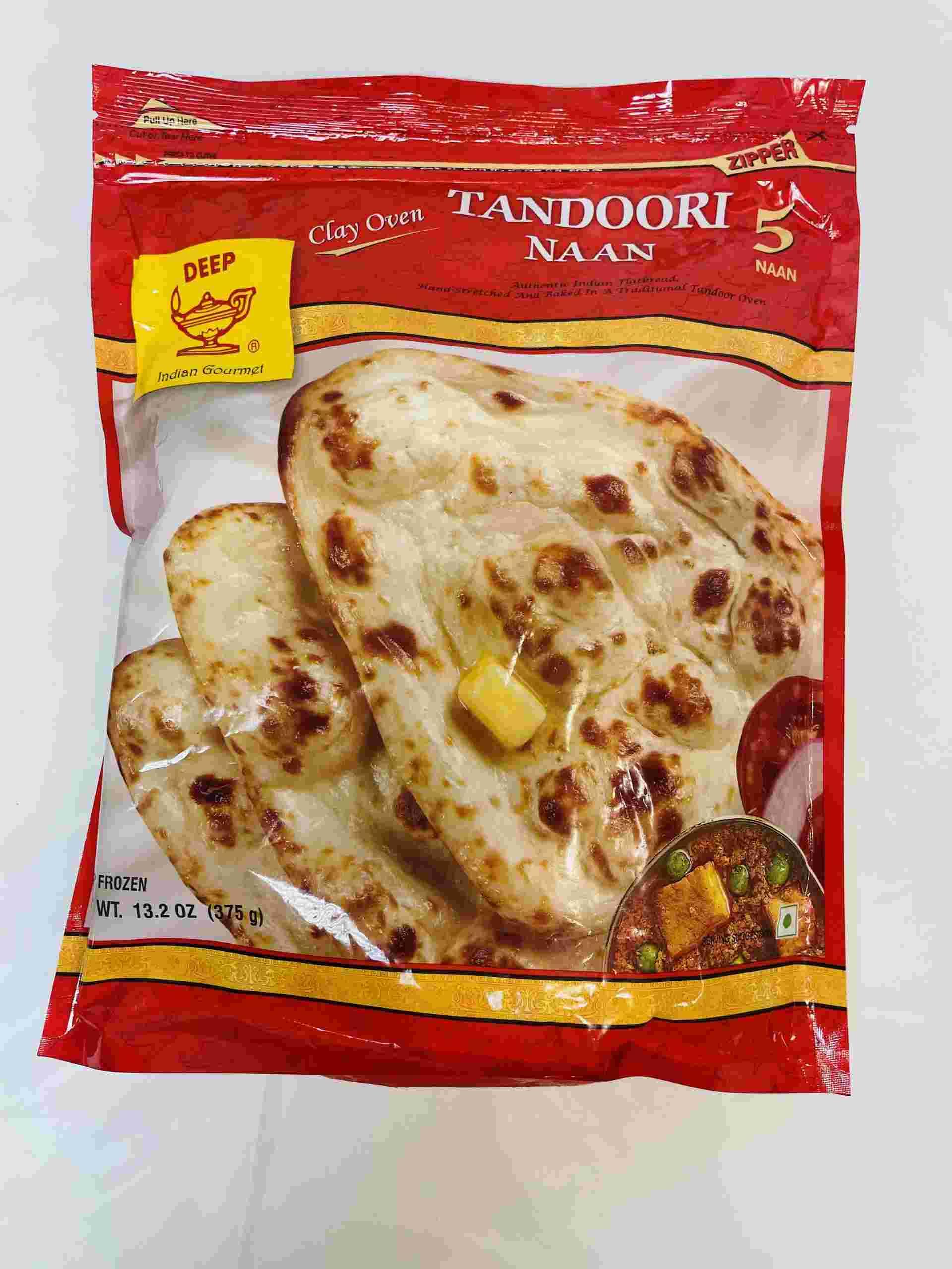 Deep  Tandoori Naan 5 Pieces