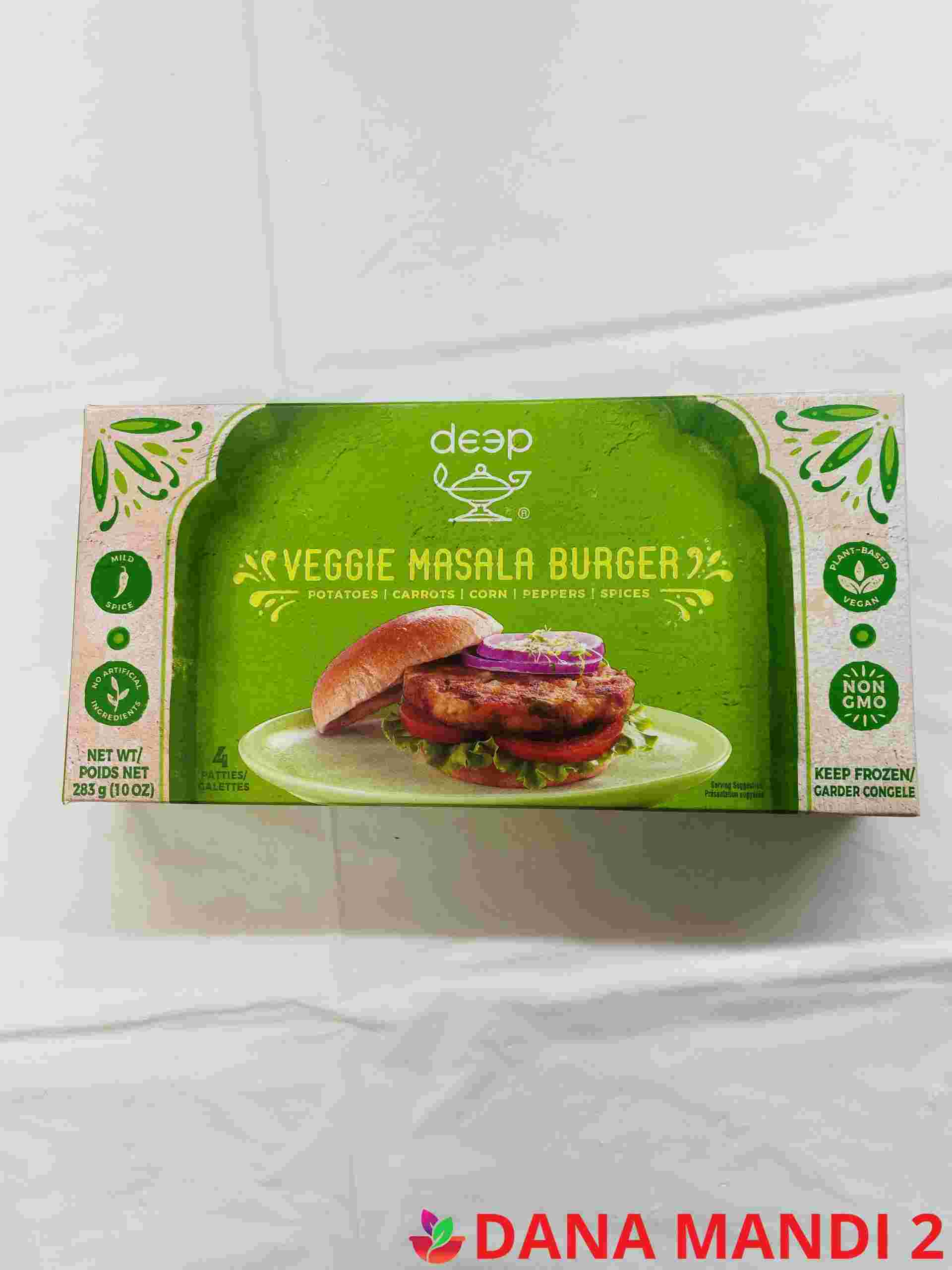 Deep Veggie Masala Burger 4 Pieces