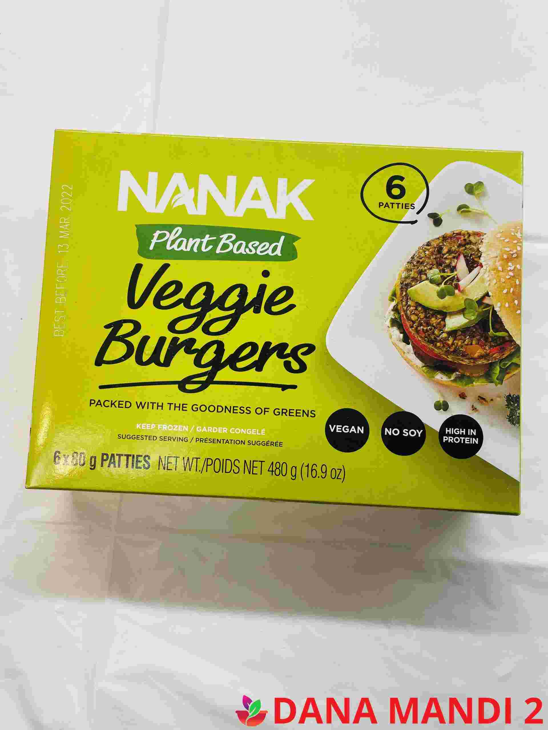 Nanak Plant Based Veggie Burgers 6 Pieces
