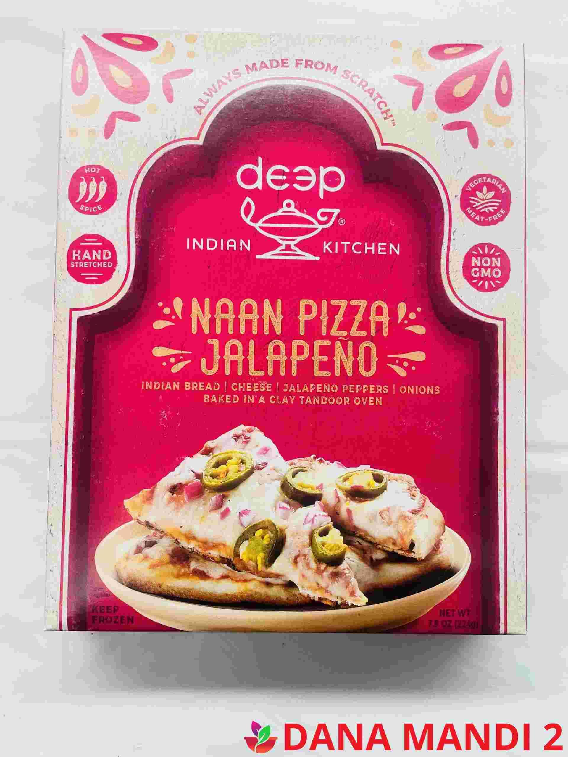 Deep  Naan Pizza Jalapeno