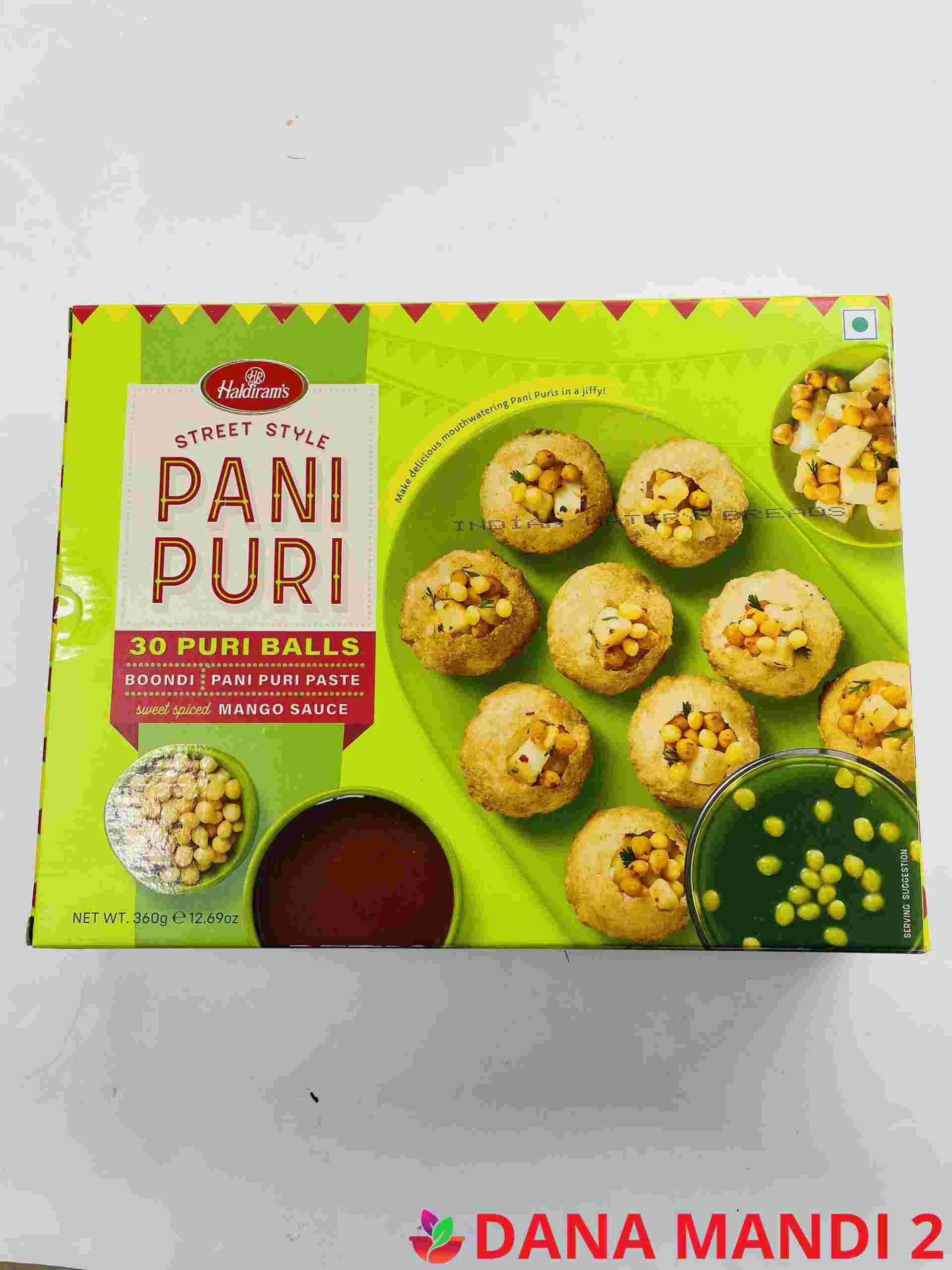 Haldiram's Pani Puri 30 Pieces & Sweet & Spiced Mango Sauce