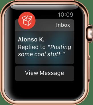 Message Reply Alert Context