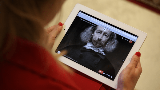 Rijksmuseum website on a tablet