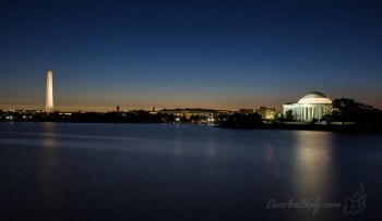 First light at the Jefferson Memorial
