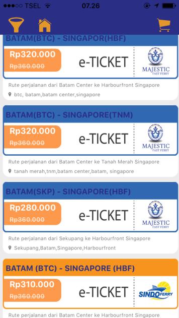 Buy Ferry E-Ticket