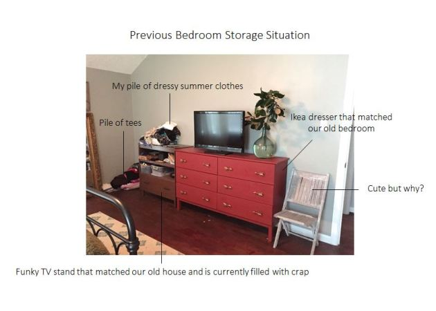 Previous Bedroom Storage Situation