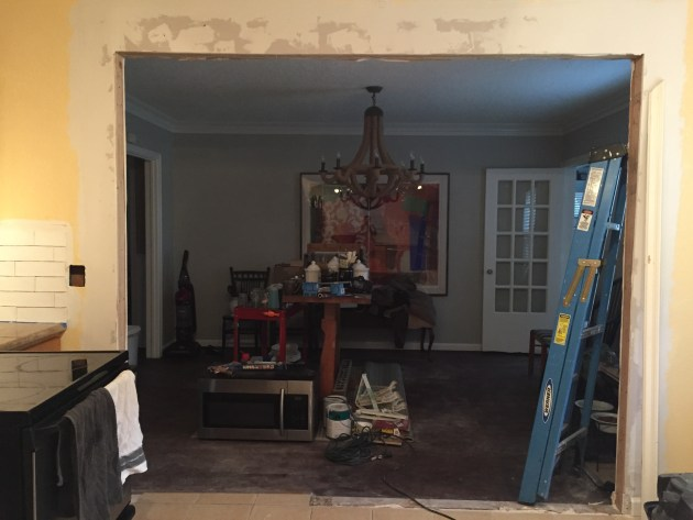 Dining Room Opening Drywall