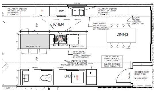 Kitchen Finishes, Kitchen layout, modern kitchen, kitchen design, townhouse kitchen, town home kitchen idea, dana morris
