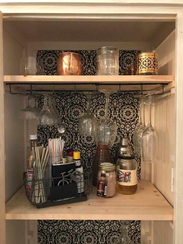 DIY Bar cart, DIY bar cabinet, Painted Furniture, do it yourself bar cart