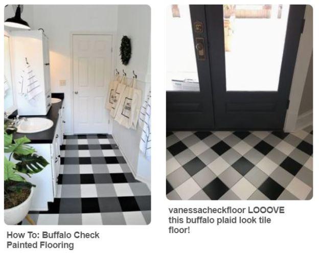 Pinterest, Buffalo Check floor, DIY, dana morris