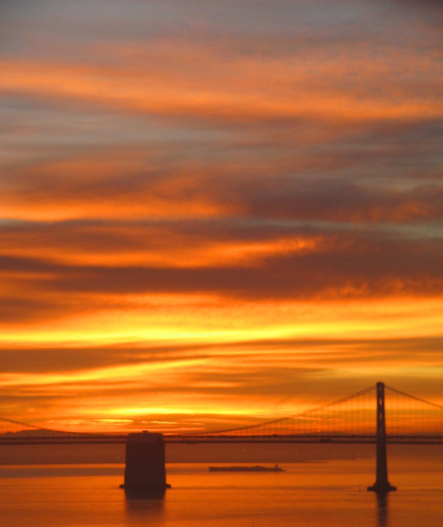 Autumn Sunrise...fall colors in California sky