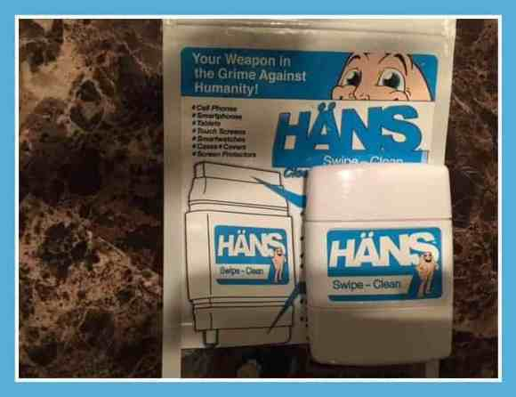 HÄNS Swipe-Clean, tech, cleaner, fingerprints, grime, bacteria, germs, swipe-clean, cellphones smartphones, tablets, touchscreens, smartwatches, cases, covers, screen protectors, dana vento, tech talk