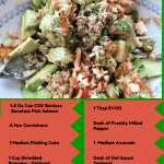 Low Carb Salmon Salad With Cornichons