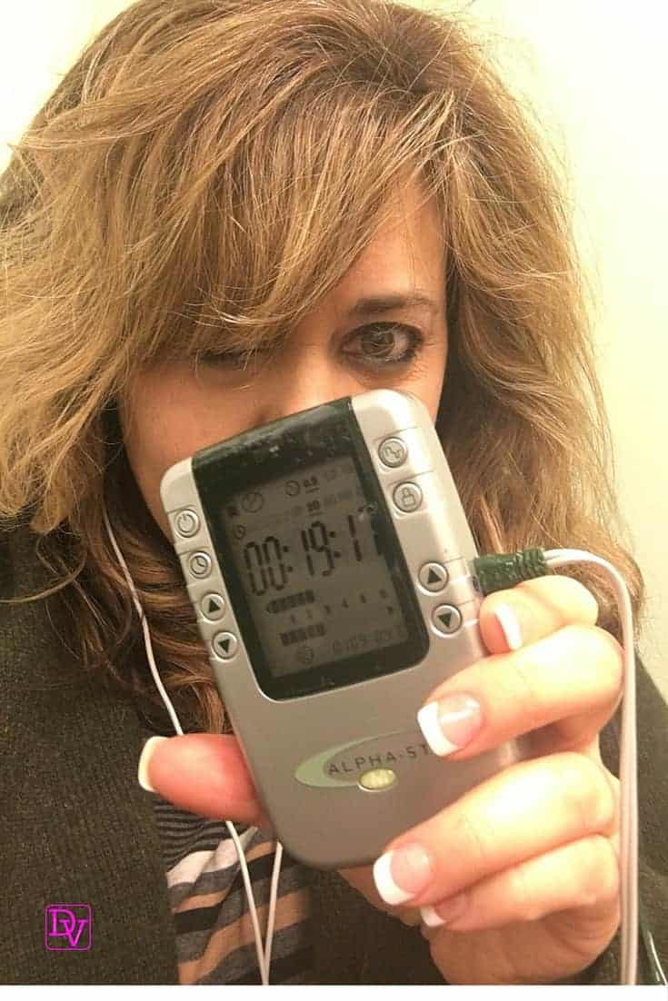 alpha stim, machine, device, migraines, migraine, headaches, pain, chronic pain, depression, anxiety, cure, no meds, medicine free, aa batteries, 30 minutes a day, 6 weeks, sleep, no sleeping med, no grogginess, focus, watch, learn, army, dana vento Combat Migraines, Insomnia and Anxiety