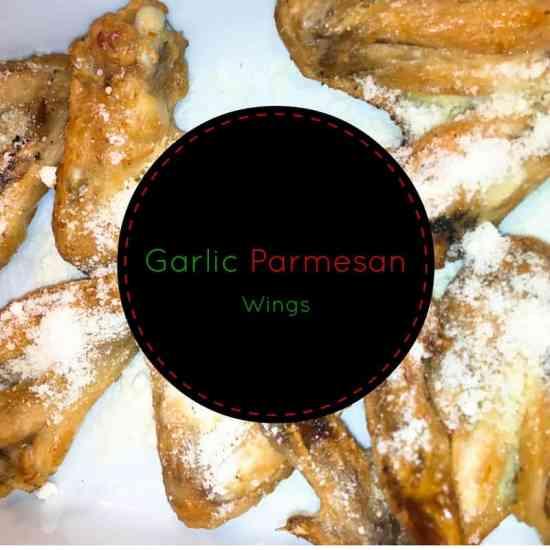 garlic parmesan wings, garlic, butter, parmesan cheese, wings, air fryer, oil less fryer, recipe, food, foodie,