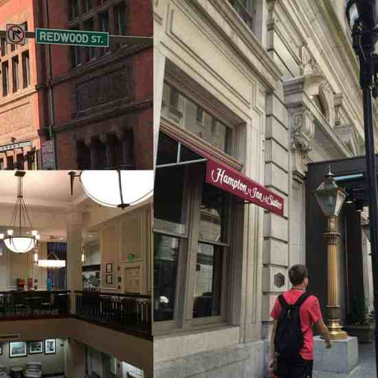 Hampton Inn & Suites, Inner Harbor, Inner Harbor Baltimore, Walk-able City, Walk-able, valet parking, rooms, suites, refrigerators, hair dryers, cool, clean, front desk, hot breakfast, foyer, indoor pool, location, events, attractions, redwood street, light street, E Pratt Street, food, dining, easy access, easy to find, heart of, Hampton Inn & Suites Baltimore Inner Harbor, travel writer, visit baltimore, travel blogger, traveling, family travel, tourism, tour, water taxi, Hard Rock Cafe Baltimore, Dick's Last Resort Baltimore, Ft. McHenry, walking, cabs, shuttles, dana vento travel blogger, food blogger