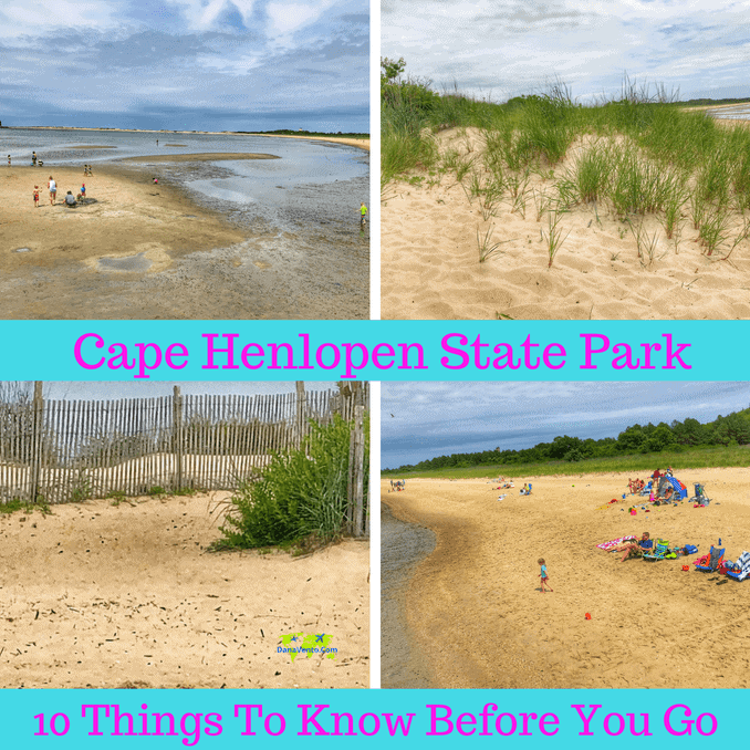 Cape Henlopen State Park in a few different angles