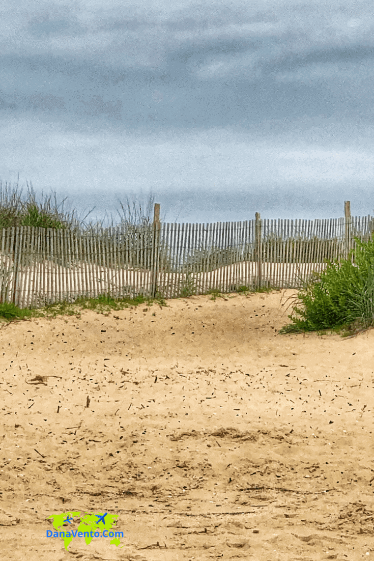 Fence and sand at Cape Henlopen State Park